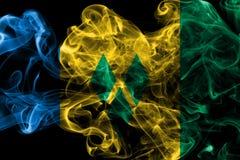 Święty Vincent i grenadyna dymu flaga zdjęcie royalty free