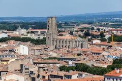 Święty Vincent Kościelny Carcassonne Francja Zdjęcia Royalty Free