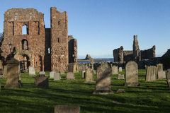 Święty wyspy Priory Northumberland, Anglia (Lindisfarne) zdjęcie royalty free