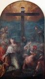 Święty zbierający wokoło krzyża Obrazy Royalty Free