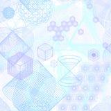 Świętych geometria symboli/lów bezszwowy wzór royalty ilustracja
