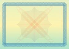 Świadectwa, dyplomu lub alegata szablon z ornamentacyjną granicą, również zwrócić corel ilustracji wektora Zdjęcia Royalty Free