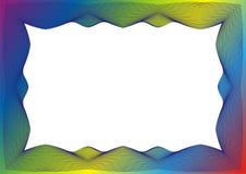 Świadectwa lub dyplomu szablon z tęczy ramą ilustracja wektor