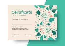 Świadectwo docenienie szablonu projekt Eleganccy biznesowi di ilustracji