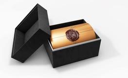 Świadectwo szablon z nowożytnym wzorem, dyplom, 3d ilustracja, Zdjęcie Stock
