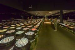 Światła Corea republiki inside pawilon, expo 2015 Mediolan Obraz Royalty Free