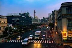 Światła dalej w Kobe zdjęcie stock