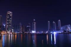 światła Dubai arabscy emiraty jednoczyli zdjęcia royalty free