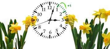 Światła dziennego oszczędzania czas DST Ścienny zegar iść zima czas zdjęcia royalty free