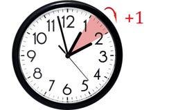 Światła dziennego oszczędzania czas Zmiana zegar lato czas obraz royalty free
