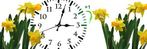 Światła dziennego oszczędzania czas Zmiana zegar lato czas zdjęcie stock