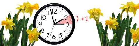 Światła dziennego oszczędzania czas Zmiana zegar lato czas obrazy royalty free