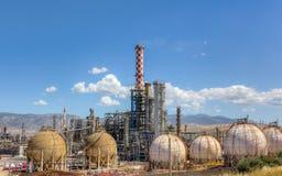 światła dziennego rafinerii ropy naftowej widok Fotografia Stock