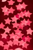 światła x28 & gwiazdy; pink& x29; zdjęcie stock