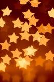 światła x28 & gwiazdy; yellow& x29; fotografia stock