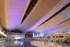 Światła i iluminacje przy Haneda lotniskiem fotografia royalty free