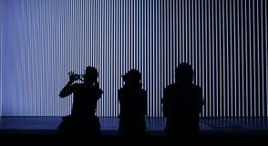 Światła i muzyczny ogromny installationat sonaru festiwal Zdjęcie Royalty Free