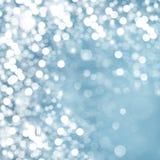 Światła na błękitny tle. Fotografia Royalty Free