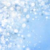 Światła na błękitny tle. Zdjęcia Stock