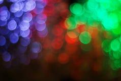 Światła na bokeh jako tło Obraz Stock