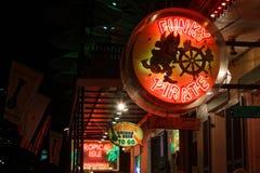 Światła na bourbon ulicie zdjęcia royalty free
