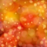 Światła na czerwonym pomarańczowym tła bokeh skutku. Fotografia Royalty Free
