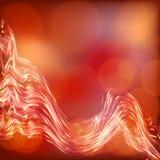 Światła na czerwonym tła bokeh skutku. Zdjęcia Royalty Free