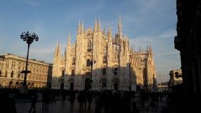 Światła na Milano katedrze Zdjęcie Stock