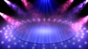 Światła reflektorów na scenie Zdjęcie Stock