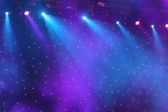 Światła reflektorów przedstawienie Zdjęcia Stock