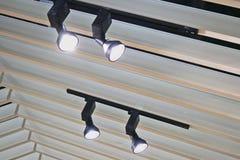 Światła reflektorów wspinający się Fotografia Royalty Free