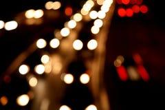 światła rozmyty ruch drogowy Zdjęcia Stock