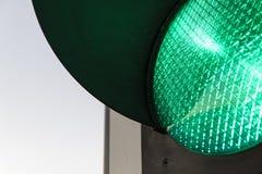 Światła ruchu †'zieleń zdjęcie royalty free