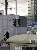 Światła ruchu Berlin, 25th 2018 Wrzesień zdjęcie royalty free