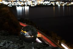 światła ruchu i kryształowa kula obrazy stock
