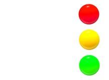 Światła ruchu ikony czerwona żółta zieleń Obraz Royalty Free