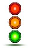 Światła ruchu jak znajdujący przy pojazdów skrzyżowaniami lub drogowym crossin Obraz Stock