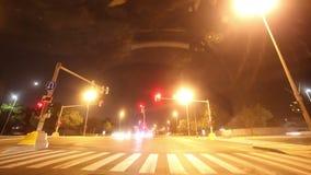Światła ruchu 4k czasu drogowy upływ od abu dhabi Dubai zbiory