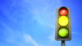 Światła ruchu koloru zmiana od czerwieni w kolorze żółtym i zieleni ilustracji