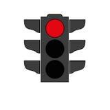 Światła ruchu sygnałowa ikona Zdjęcie Royalty Free