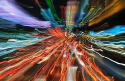 Światła ruchu w ruch plamie Fotografia Royalty Free