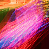 Światła ruchu w ruch plamie. Zdjęcia Royalty Free