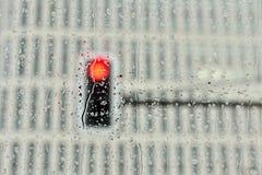 Światła ruchu za samochodowym okno Obraz Royalty Free