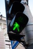 Światła ruchu zielony kolor Przemiana jest ewentualna Obrazy Royalty Free