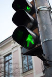 Światła ruchu zielony kolor Przemiana jest ewentualna Zdjęcie Stock