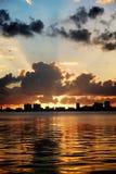 Światła słonecznego behide chmury Obraz Royalty Free