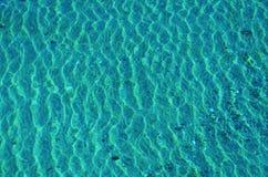 Światła słonecznego odbicie w błękitne wody Zdjęcie Royalty Free
