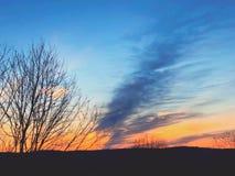 Światła słonecznego przybycie przez chmur Fotografia Royalty Free