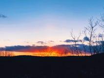 Światła słonecznego przybycie przez chmur Zdjęcie Stock