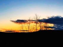 Światła słonecznego przybycie przez chmur Zdjęcia Stock